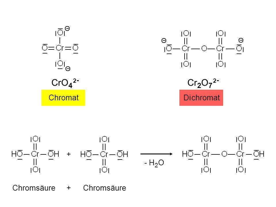 Chro mat CrO 4 2 - + Chromsäure + - H 2 O Di chromat Cr 2 O 7 2 - Dipl.-Ing. Dr. Günter Eichberger