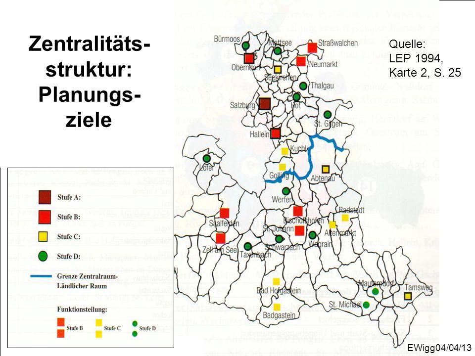 Quelle: LEP 1994, Karte 2, S. 25 Zentralitäts- struktur: Planungs- zieleEWigg04/04/13