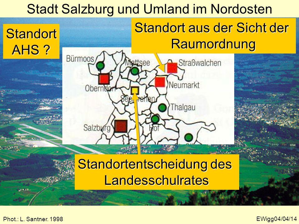 Stadt Salzburg und Umland im Nordosten Phot.: L.Santner.