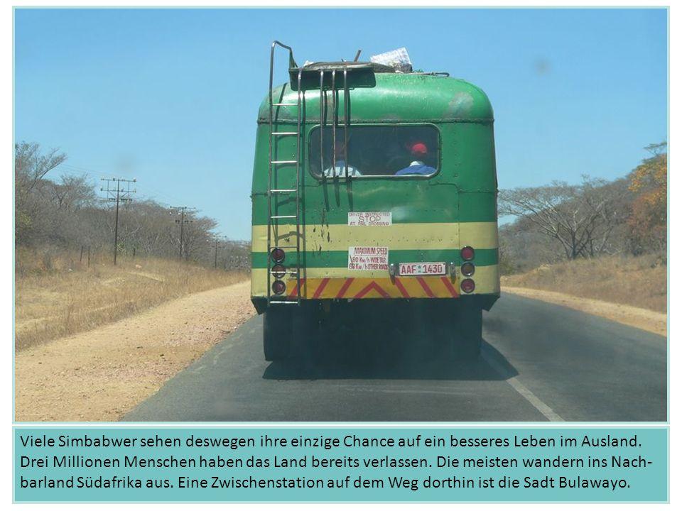 Die Straßenkinder aus ganz Simbabwe nutzen die gleichen Wege wie die Erwachsenen.