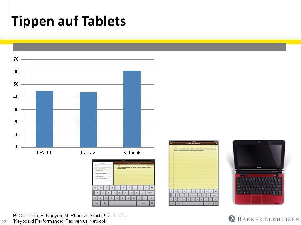 12 Tippen auf Tablets 12 –K–K B. Chaparro, B. Nguyen, M.