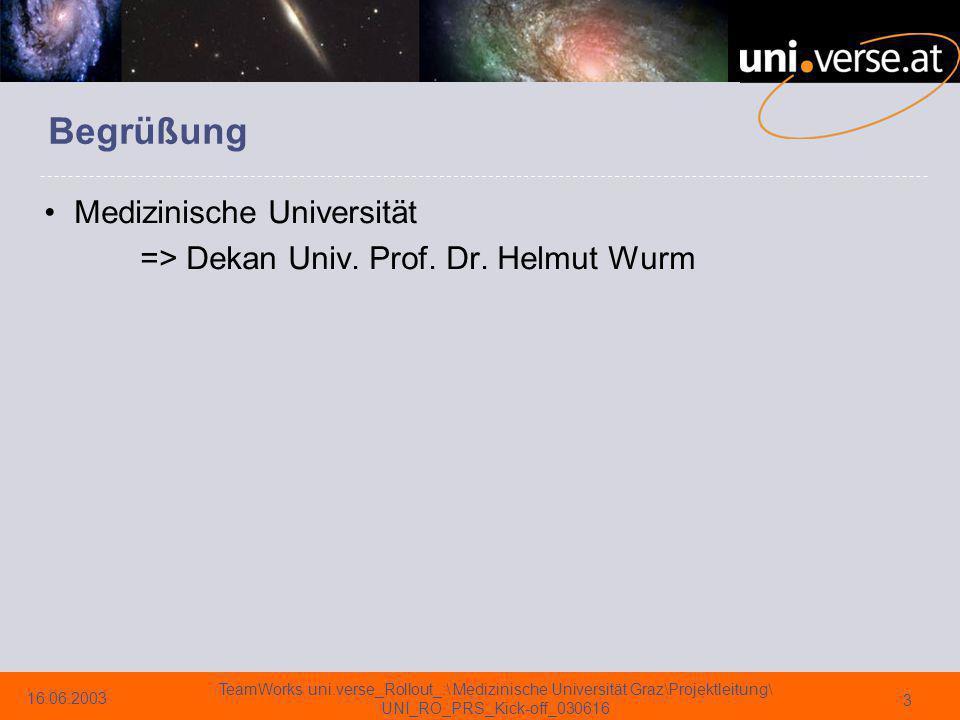 16.06.2003 TeamWorks uni.verse_Rollout_:\ Medizinische Universität Graz\Projektleitung\ UNI_RO_PRS_Kick-off_030616 34 Anforderungen – FI/CO § 11 Z 6 Univ.