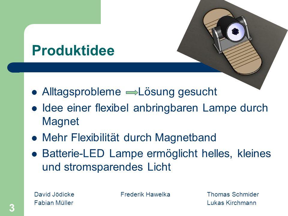 David Jödicke Frederik Hawelka Thomas Schmider Fabian MüllerLukas Kirchmann 3 Produktidee Alltagsprobleme Lösung gesucht Idee einer flexibel anbringba