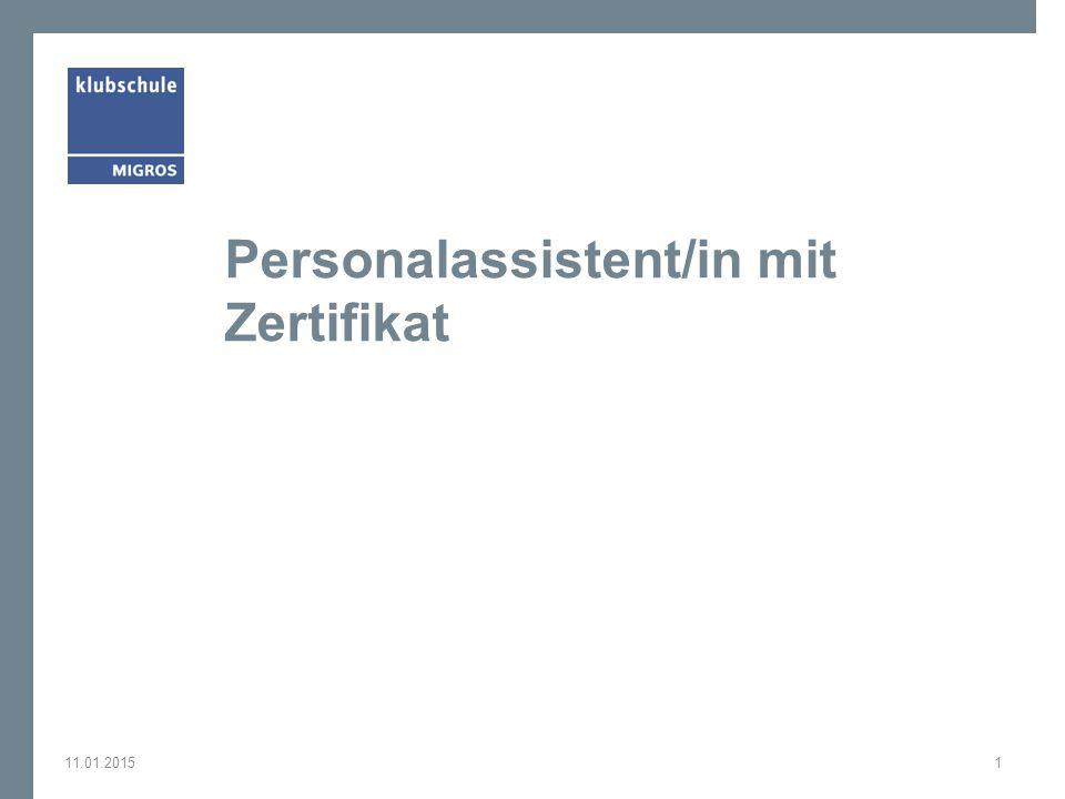Personalassistent/in mit Zertifikat 11.01.20151
