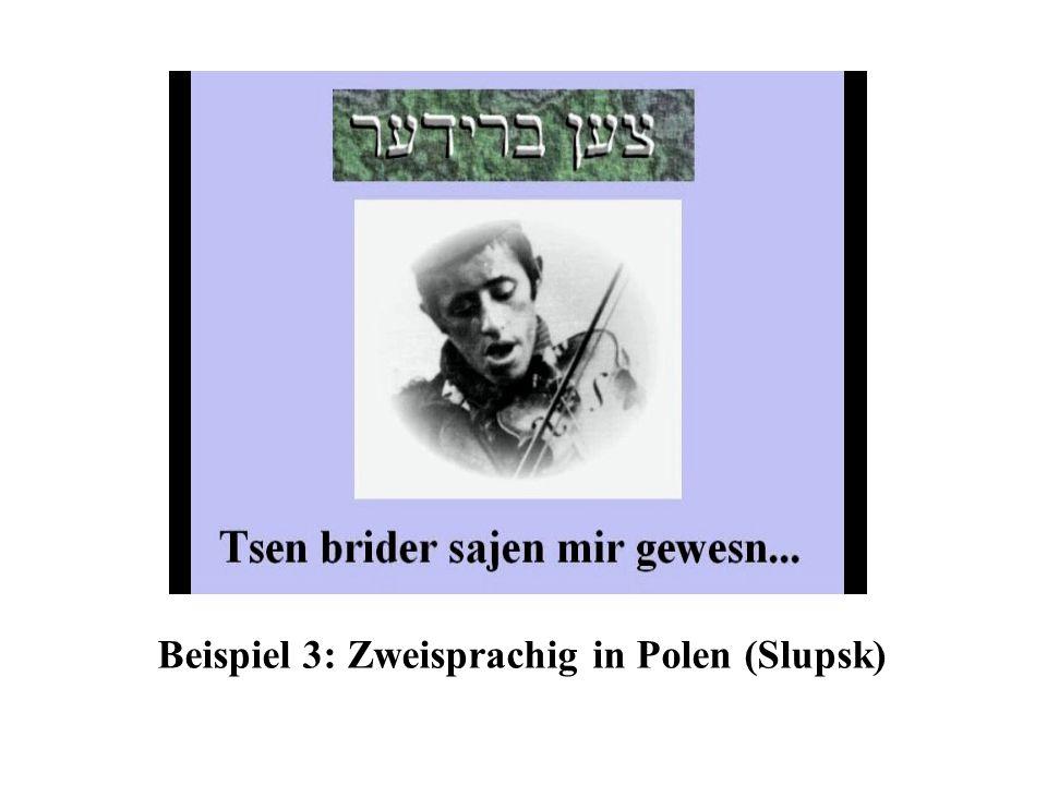 Beispiel 3: Zweisprachig in Polen (Slupsk)