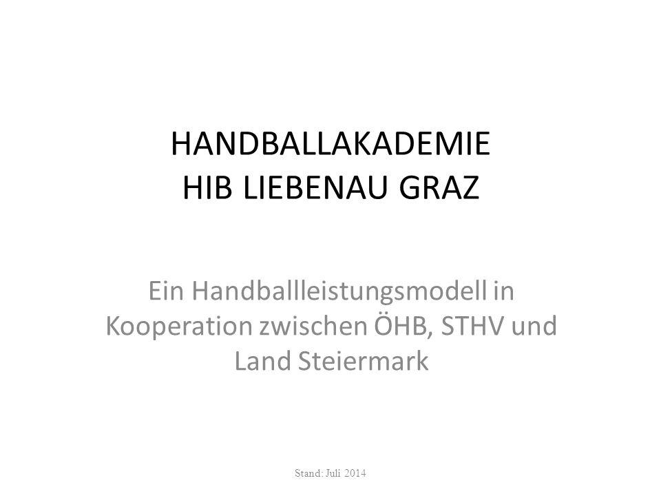 Qualitätssicherung ÖHB (jährliche Zertifizierung) Land Steiermark (Evaluierung durch Spitzensportkommission, Dr.