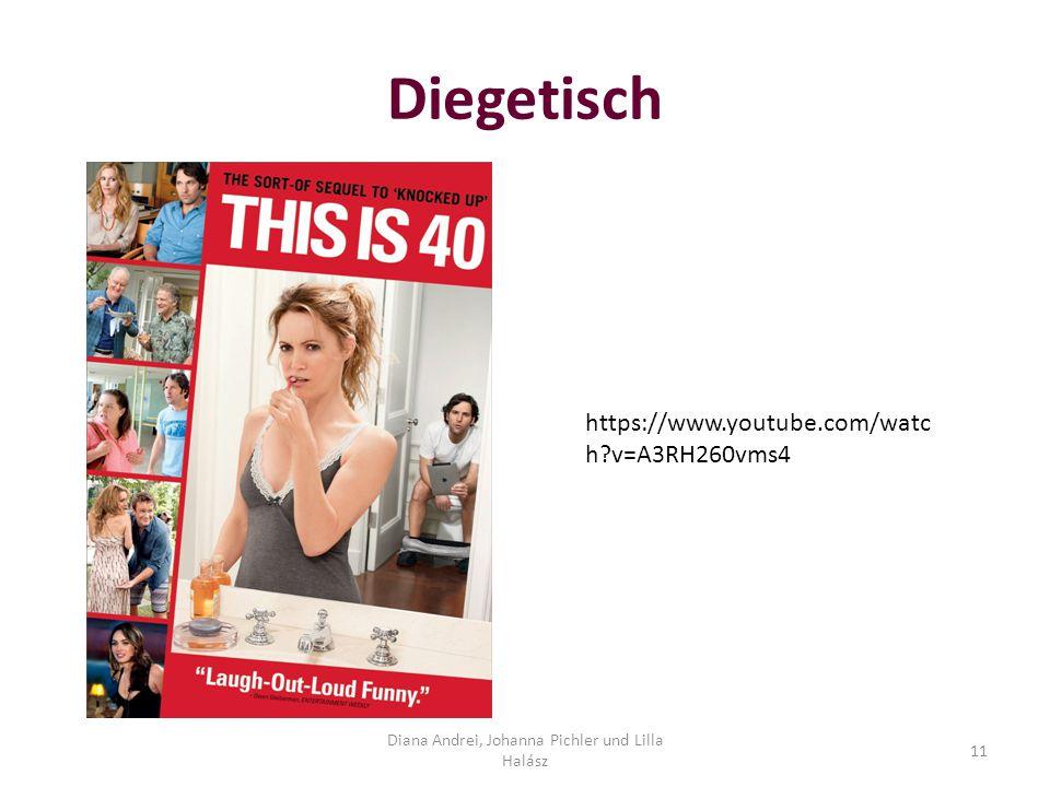 Diegetisch Diana Andrei, Johanna Pichler und Lilla Halász 11 https://www.youtube.com/watc h?v=A3RH260vms4