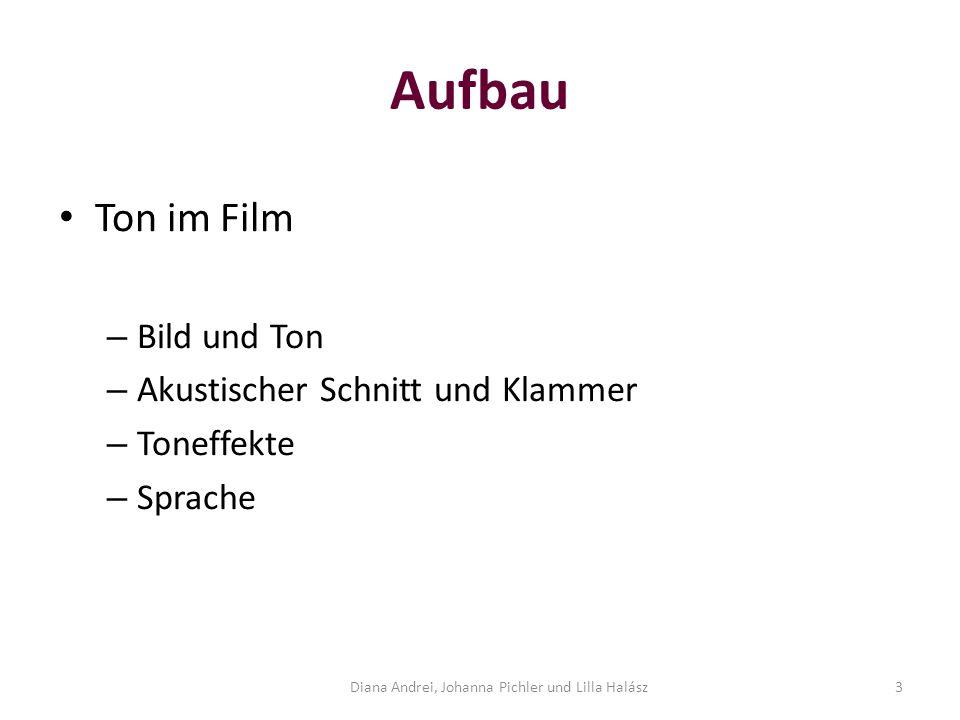 Aufbau Ton im Film – Bild und Ton – Akustischer Schnitt und Klammer – Toneffekte – Sprache Diana Andrei, Johanna Pichler und Lilla Halász3