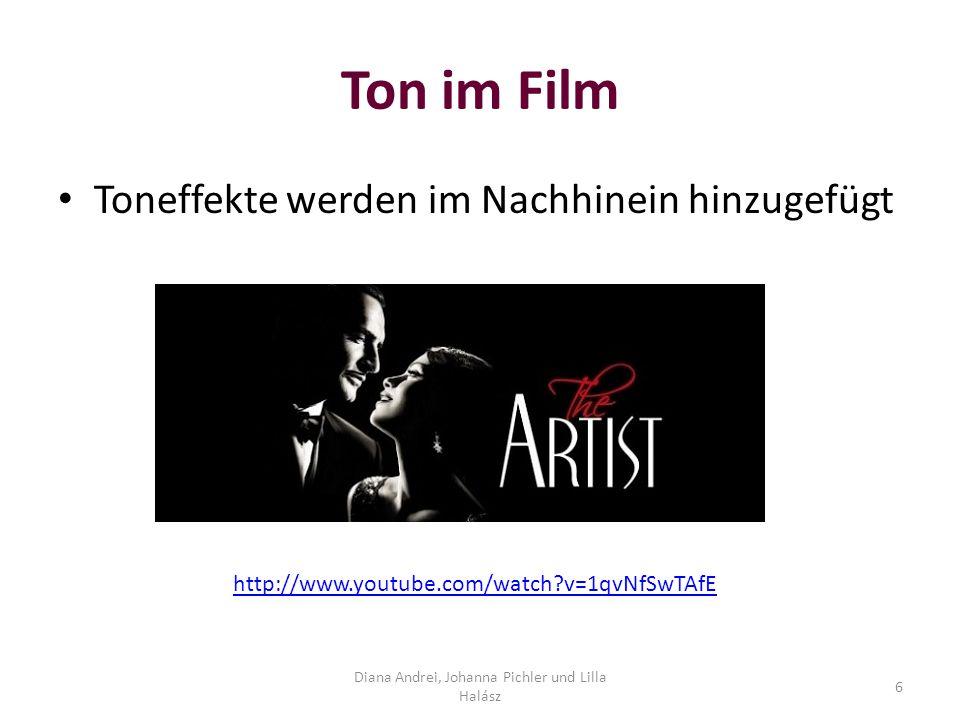 Ton im Film On https://www.youtube.com/watch?v=yMWGw_y-70Y Off https://www.youtube.com/watch?v=ldlo1P3PIgs Diana Andrei, Johanna Pichler und Lilla Halász 7