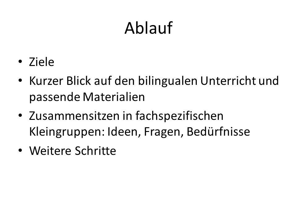 Quelle: Thomas Lenz: Bilinguales Lehren und Lernen in der Realschule (Internet)