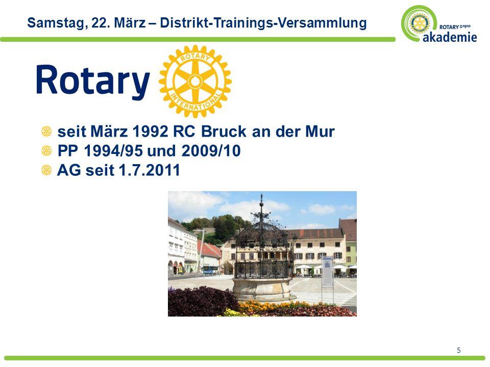 5 seit März 1992 RC Bruck an der Mur PP 1994/95 und 2009/10 AG seit 1.7.2011
