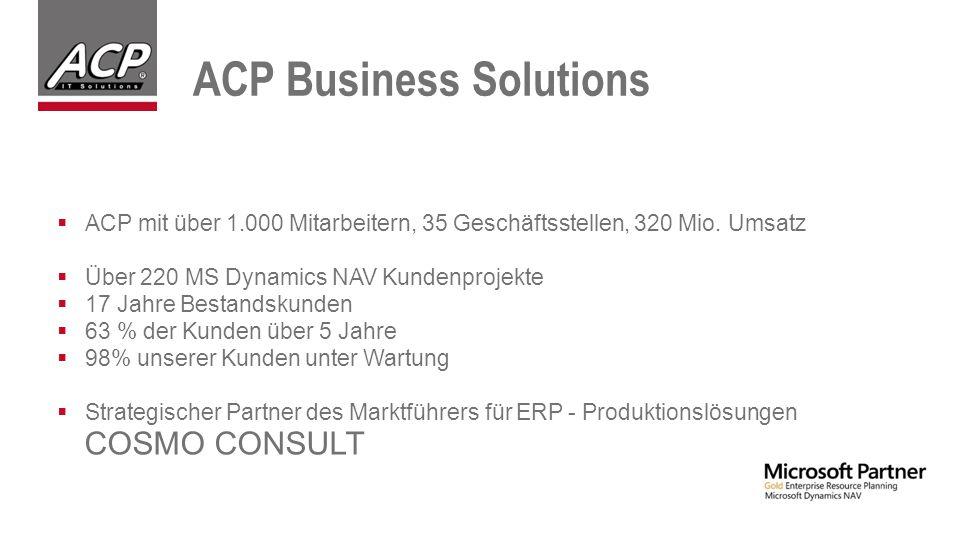  ACP mit über 1.000 Mitarbeitern, 35 Geschäftsstellen, 320 Mio.