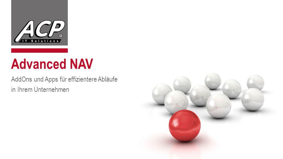 Advanced NAV AddOns und Apps für effizientere Abläufe in Ihrem Unternehmen