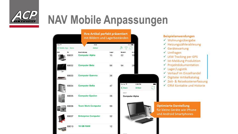 NAV Mobile Anpassungen
