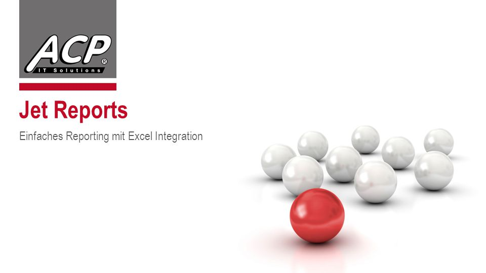 Jet Reports Einfaches Reporting mit Excel Integration
