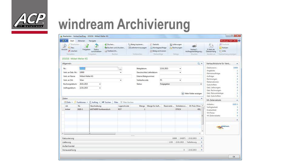 windream Archivierung