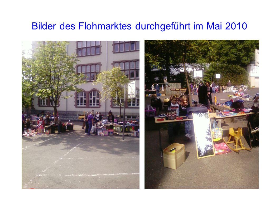 Bilder des Flohmarktes durchgeführt im Mai 2010