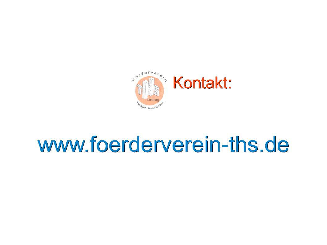Kontakt: Kontakt:www.foerderverein-ths.de