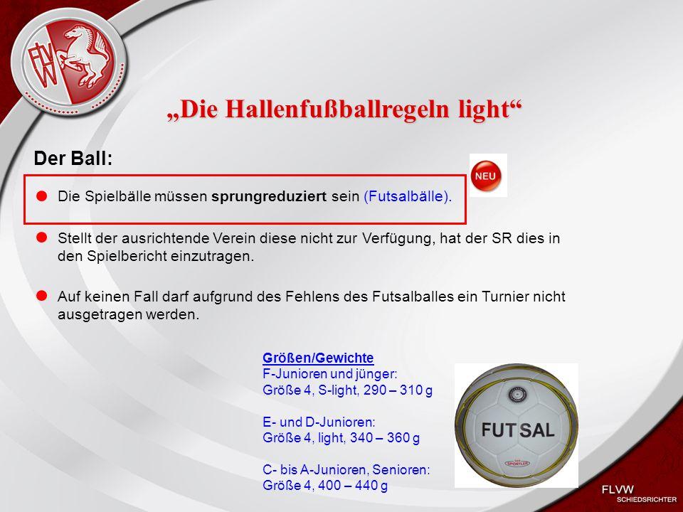 Heiko Schneider KSL Bochum FLVW Kreis Bochum www.kreis-bochum.de Die Ausrüstung: SR: Hallenschuhe müssen helle (nicht färbende) Sohlen haben.
