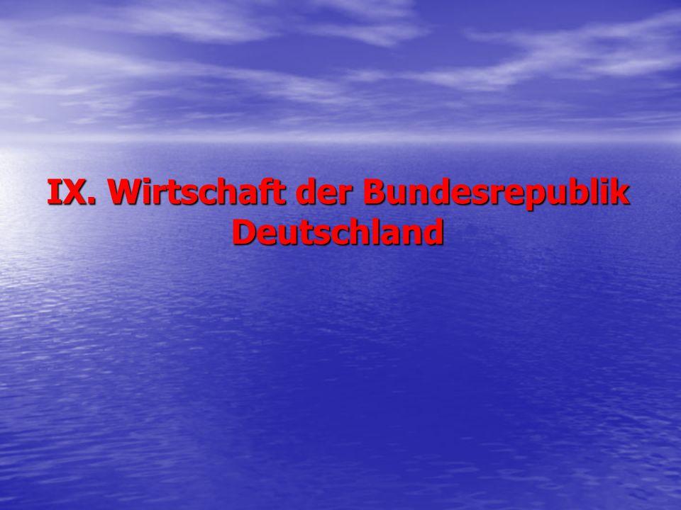 IX. Wirtschaft der Bundesrepublik Deutschland