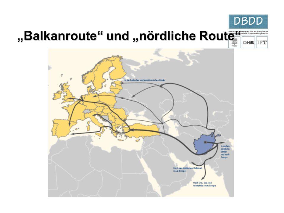 """Balkanroute"" und ""nördliche Route"""