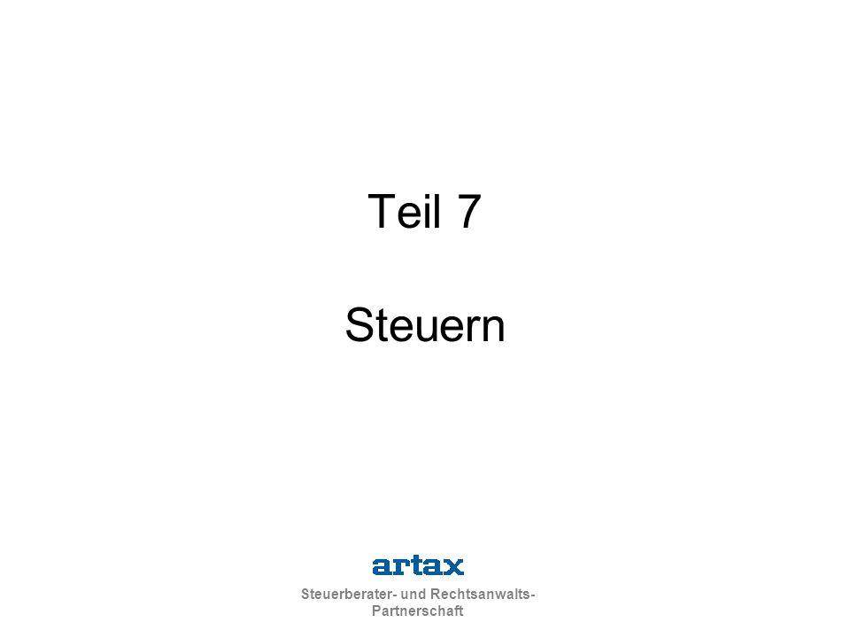 Steuerberater- und Rechtsanwalts- Partnerschaft Teil 7 Steuern