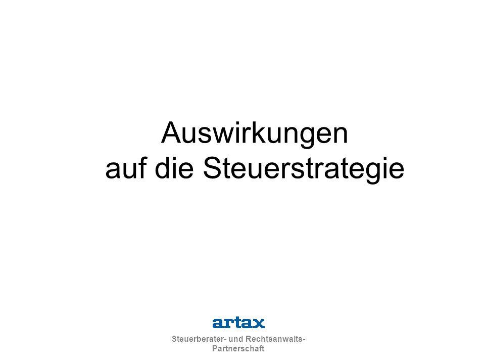 Steuerberater- und Rechtsanwalts- Partnerschaft Auswirkungen auf die Steuerstrategie