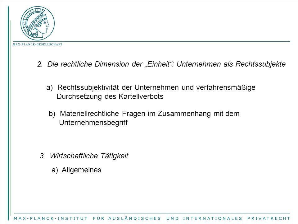 6.Die Spürbarkeit der Handelsbeeinträchtigung a).