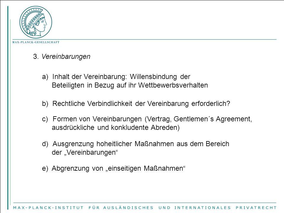 4.Beschlüsse von Unternehmensvereinigungen a) Begriff des Beschlusses in Art.