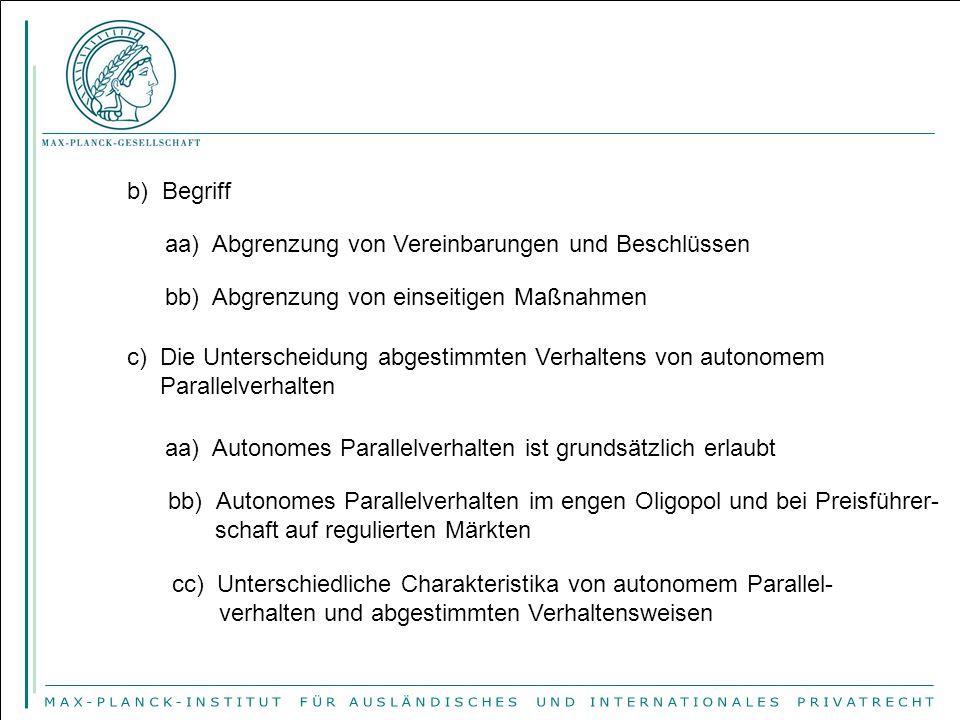 c) Vereinbarungen, die immer von Art.101 Abs.