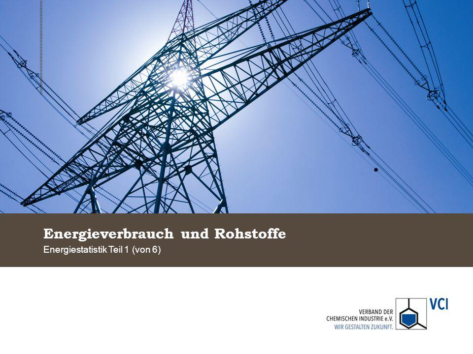 Energieverbrauch und Rohstoffe Energiestatistik Teil 1 (von 6)