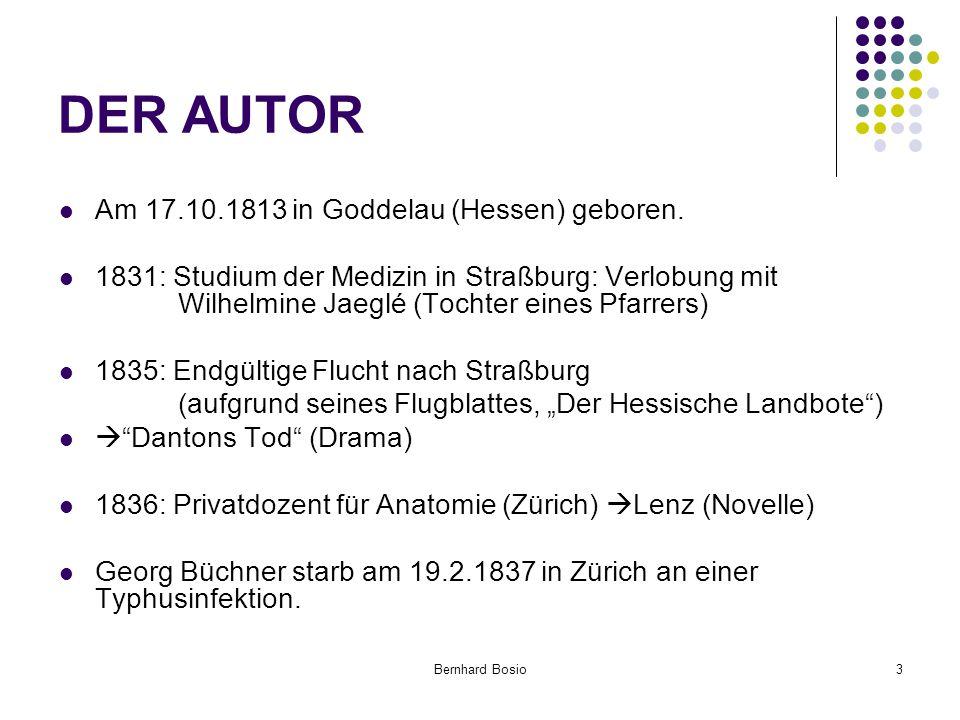 Bernhard Bosio3 DER AUTOR Am 17.10.1813 in Goddelau (Hessen) geboren.