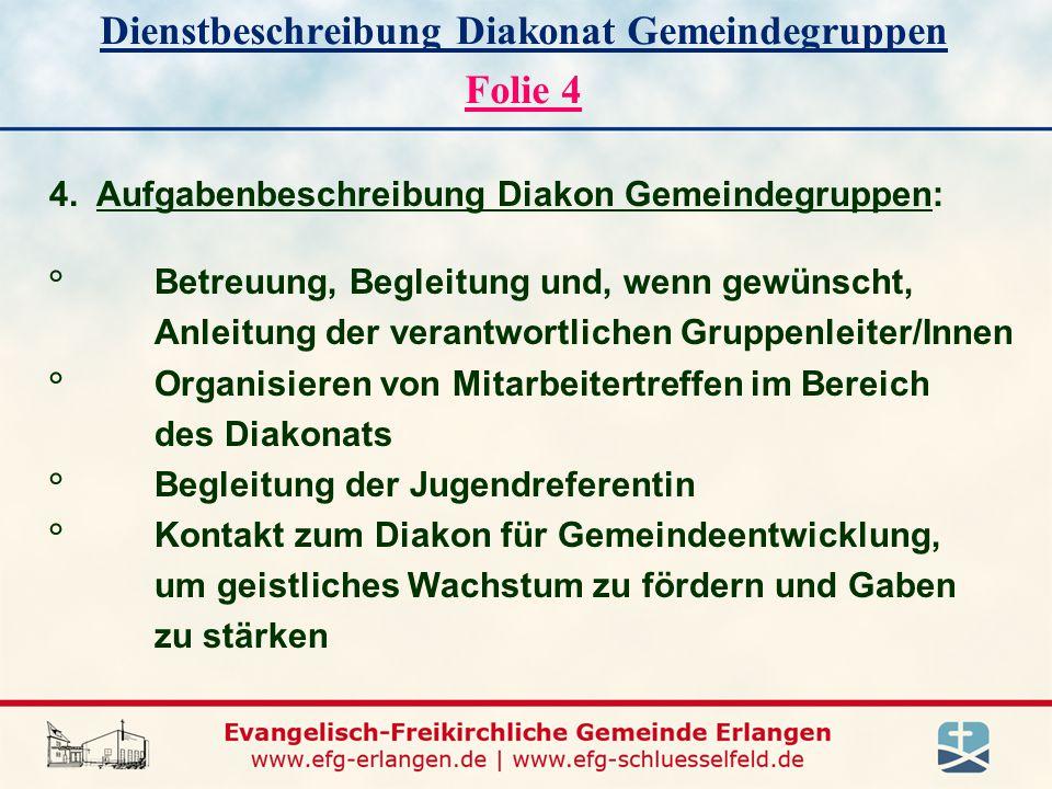 Dienstbeschreibung Diakonat Gemeindegruppen Folie 4 4.