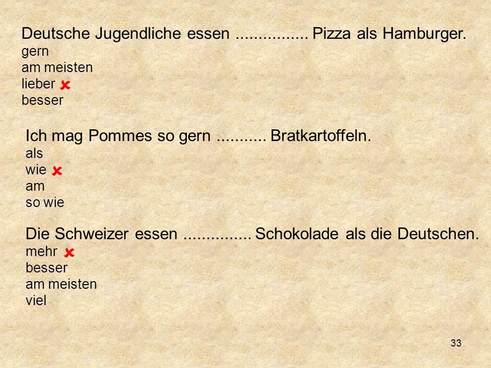 Deutsche Jugendliche essen................Pizza als Hamburger.
