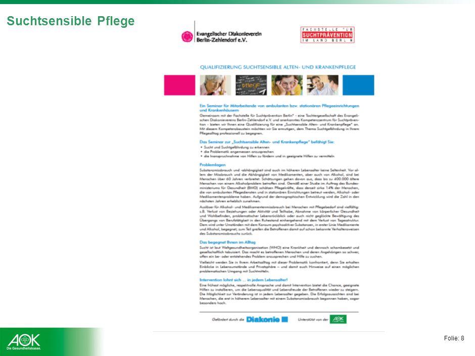 Folie: 9 Hauptdiagnosen in stationärer Behandlung Deutsche Suchthilfestatistik 2011: Verteilung Hauptdiagnosen (stationär)