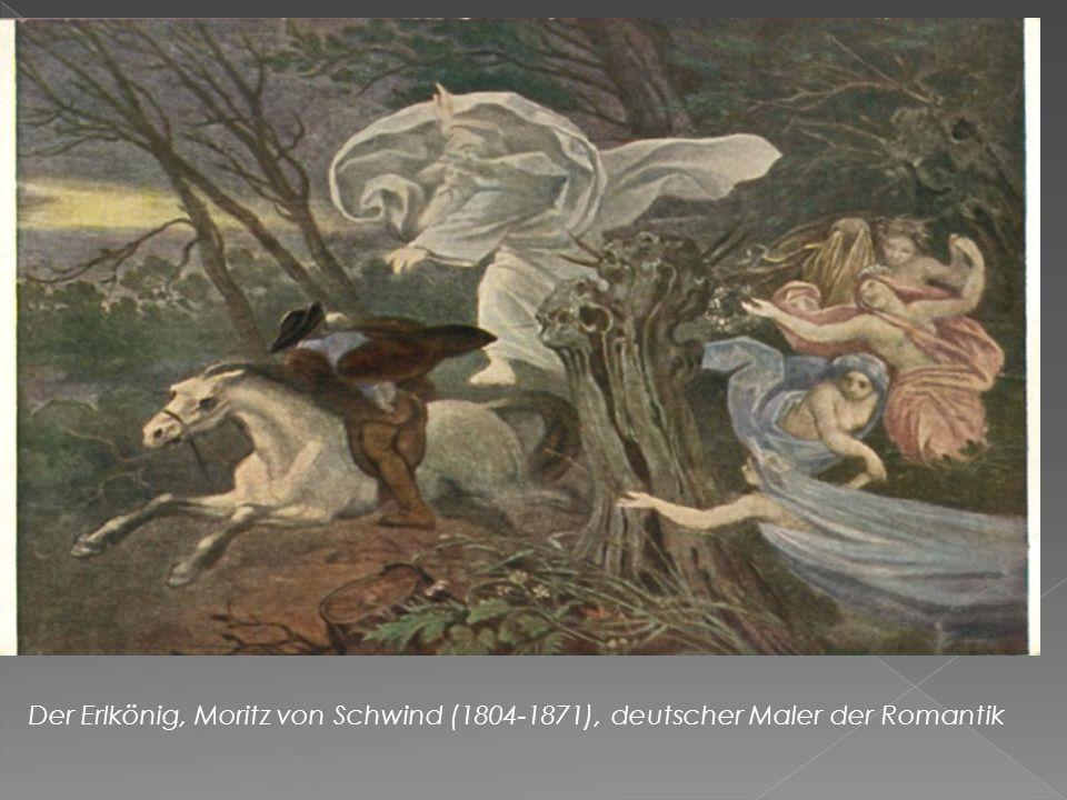 Der Erlkönig, Moritz von Schwind (1804-1871), deutscher Maler der Romantik