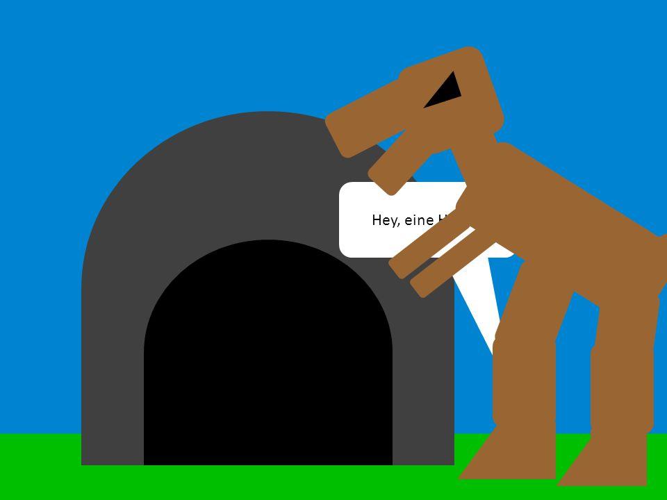 Hey, eine Höhle!