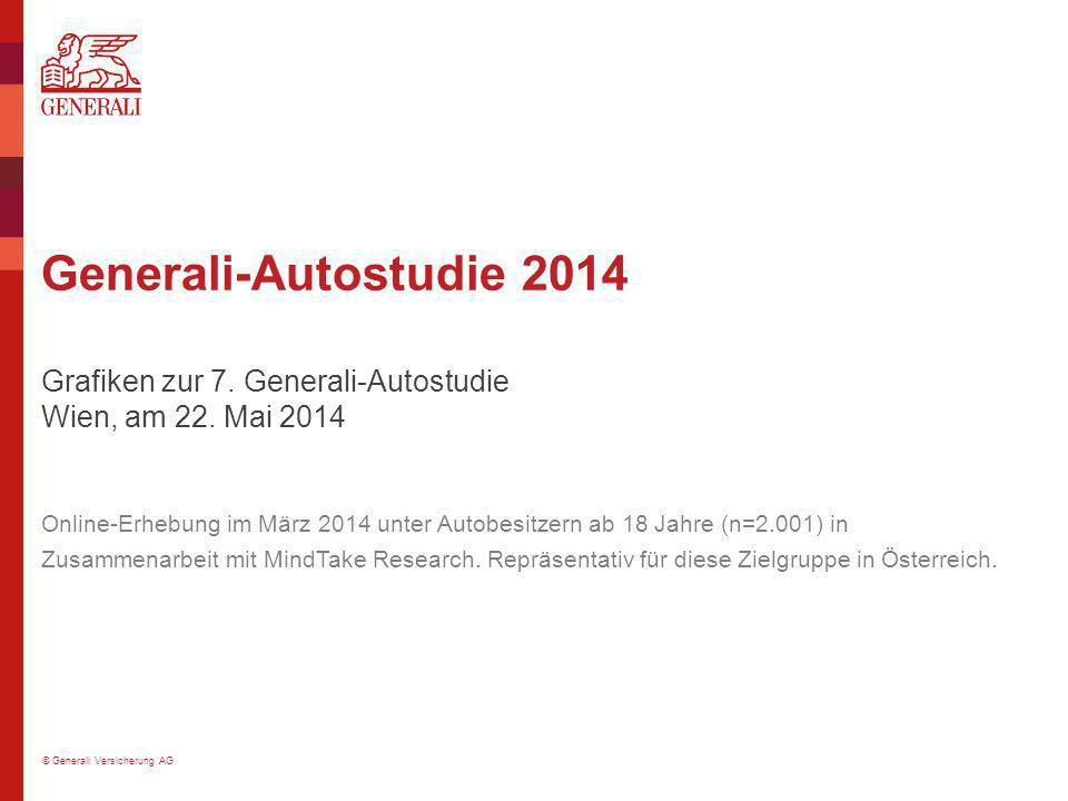 © Generali Versicherung AG Generali-Autostudie 2014 Grafiken zur 7. Generali-Autostudie Wien, am 22. Mai 2014 Online-Erhebung im März 2014 unter Autob