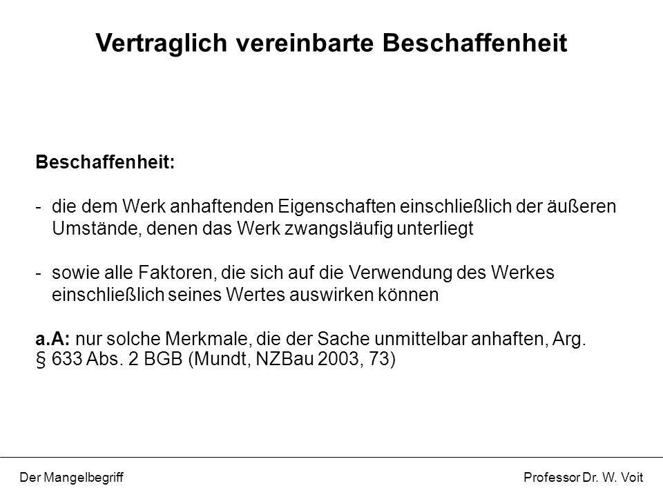 P 1: Die Beschaffenheitsvereinbarungen wurden eingehalten, das Werk funktioniert aber nicht bzw.