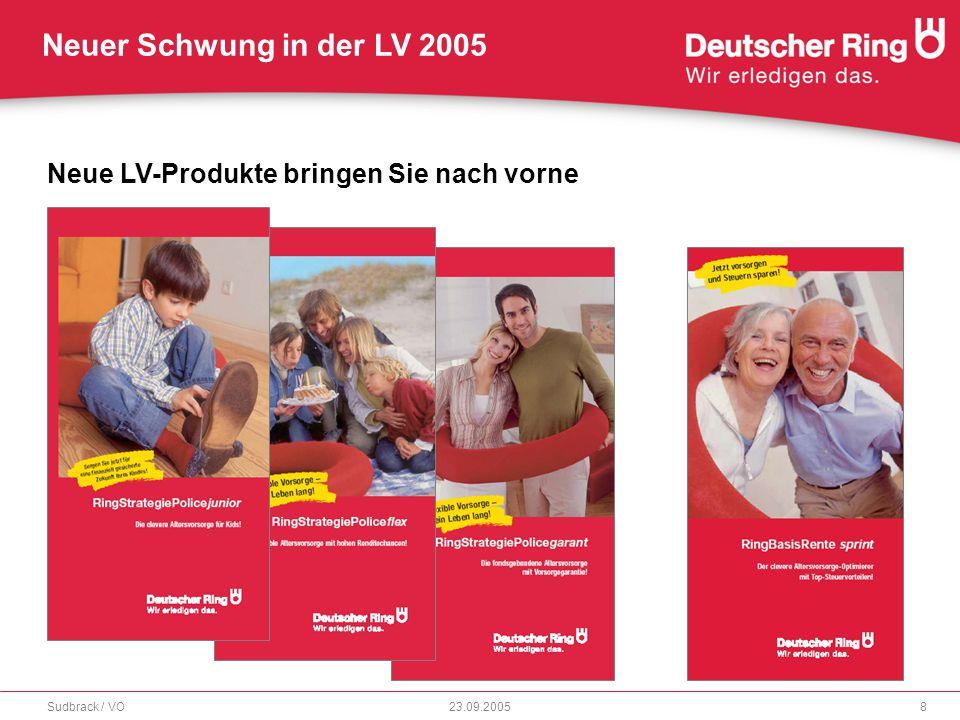 Neuer Schwung in der LV 2005 23.09.2005Sudbrack / VO9 Produktlinie RingStrategiePolicen