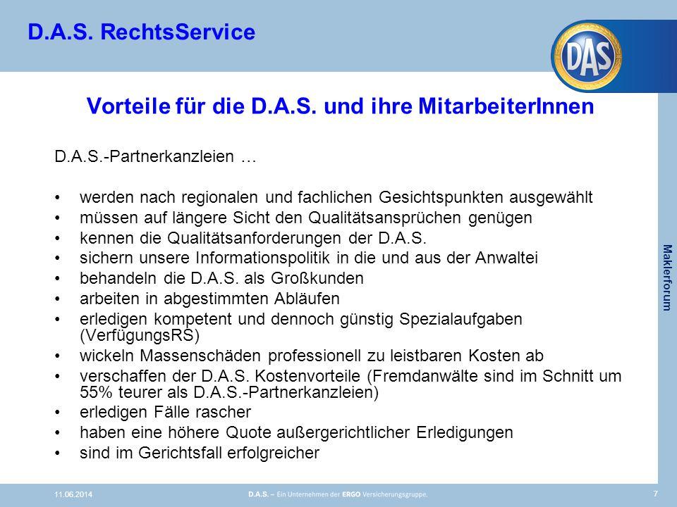 D.A.S. RechtsService Vorteile für die D.A.S.