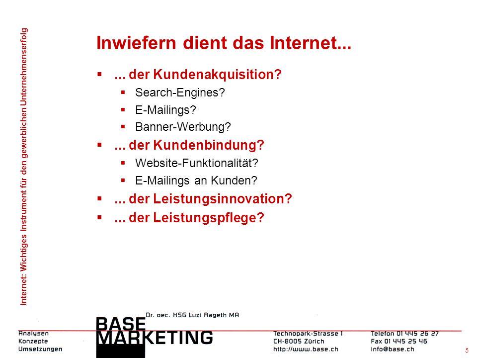 Internet: Wichtiges Instrument für den gewerblichen Unternehmenserfolg 4 Das aufgabenorientierte Marketing  Ansatz der Hochschule St. Gallen (Tomczak