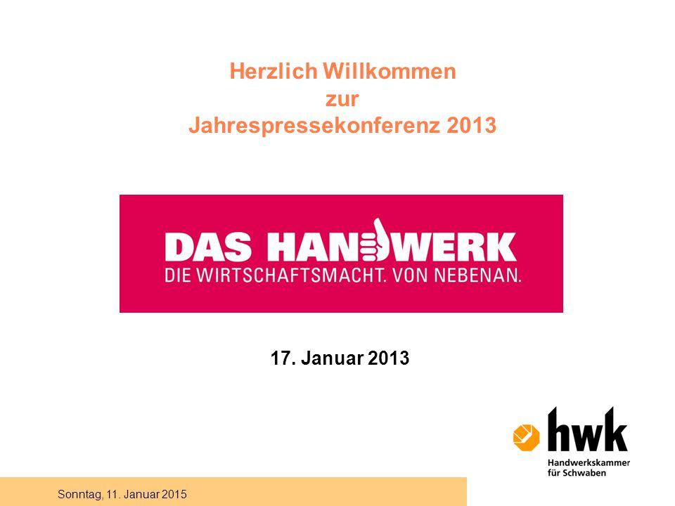 Sonntag, 11. Januar 2015 Herzlich Willkommen zur Jahrespressekonferenz 2013 17. Januar 2013