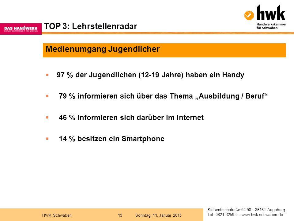 Siebentischstraße 52-58 · 86161 Augsburg Tel. 0821 3259-0 · www.hwk-schwaben.de Sonntag, 11.