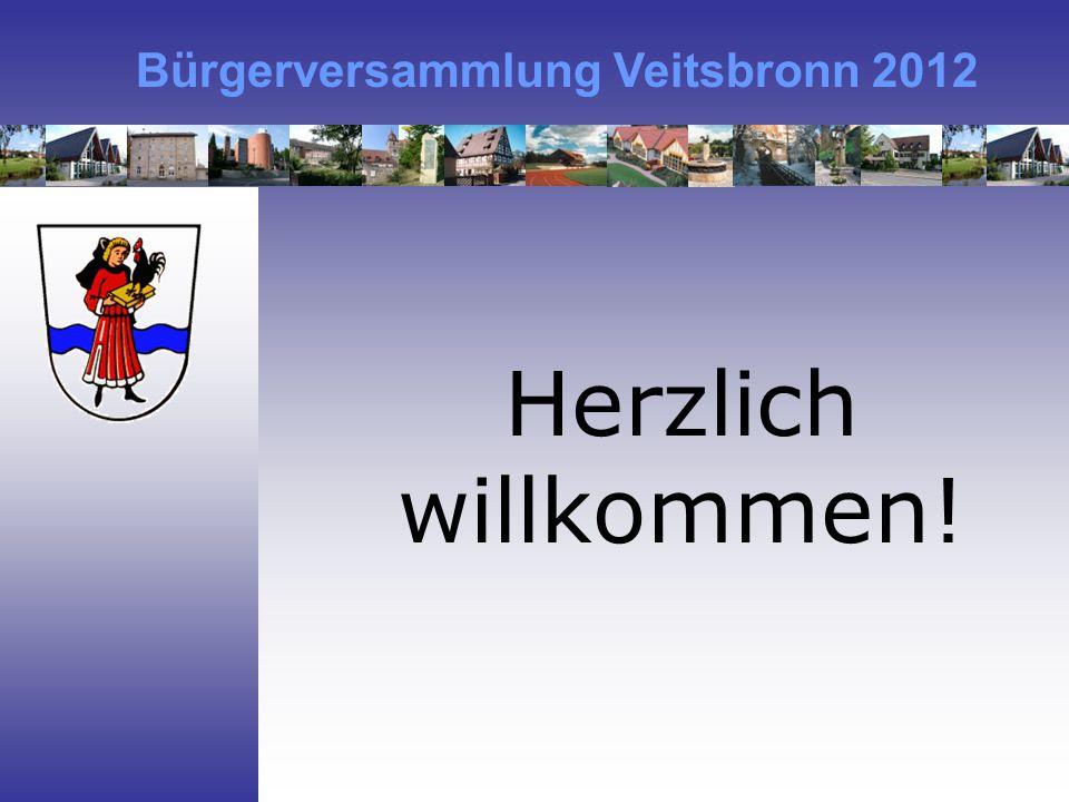 Bürgerversammlung Veitsbronn 2012 Herzlich willkommen!