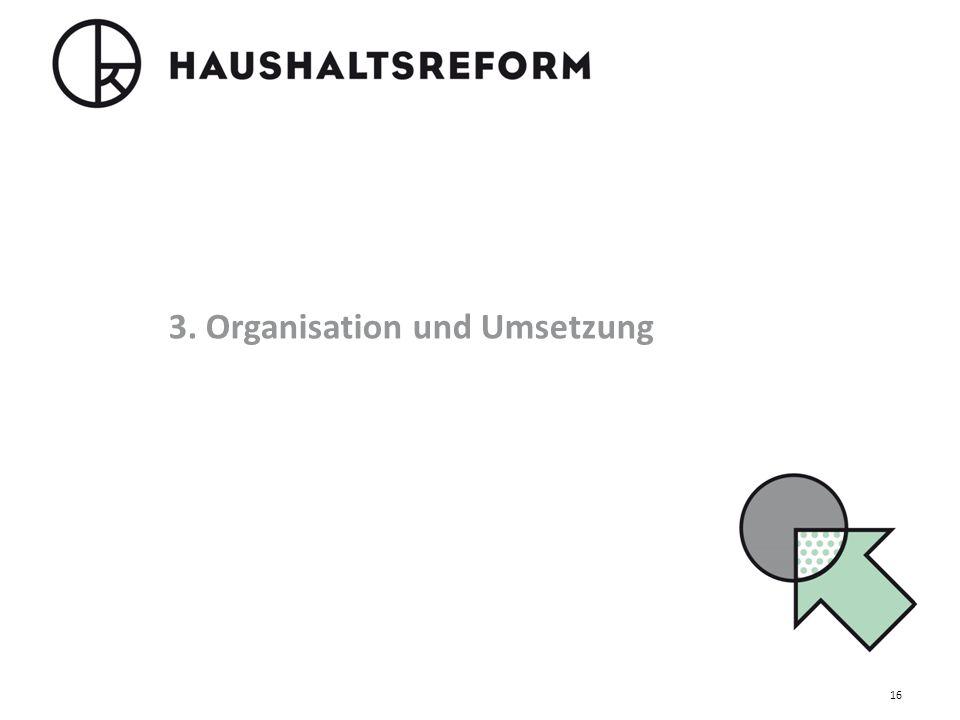 3. Organisation und Umsetzung 16