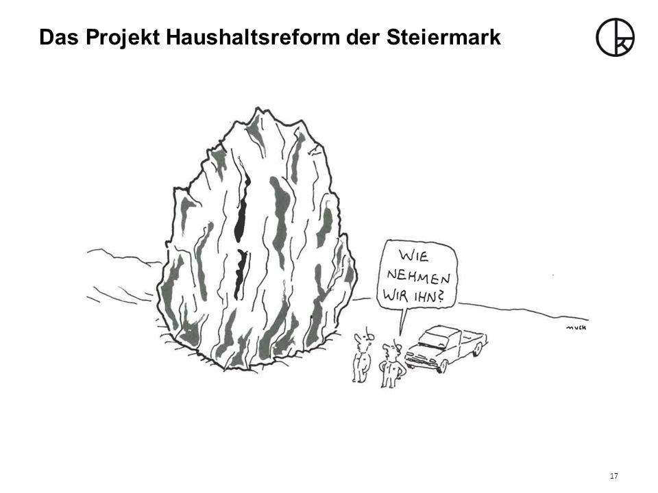 Das Projekt Haushaltsreform der Steiermark 17