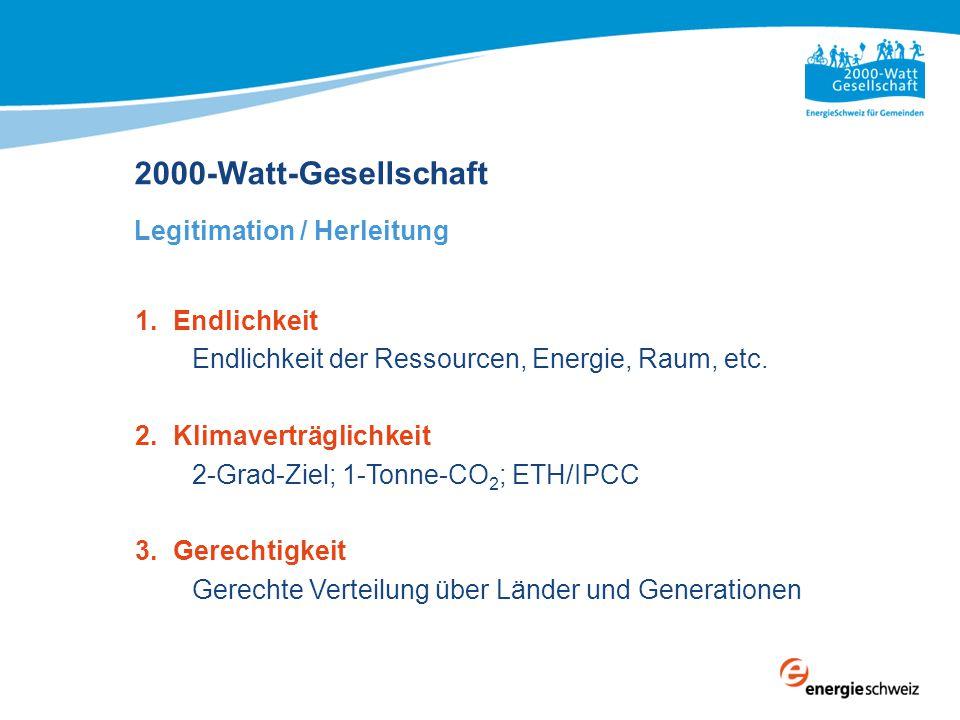 2000-Watt-Gesellschaft Wieso 2000 Watt und eine Tonne CO 2 .