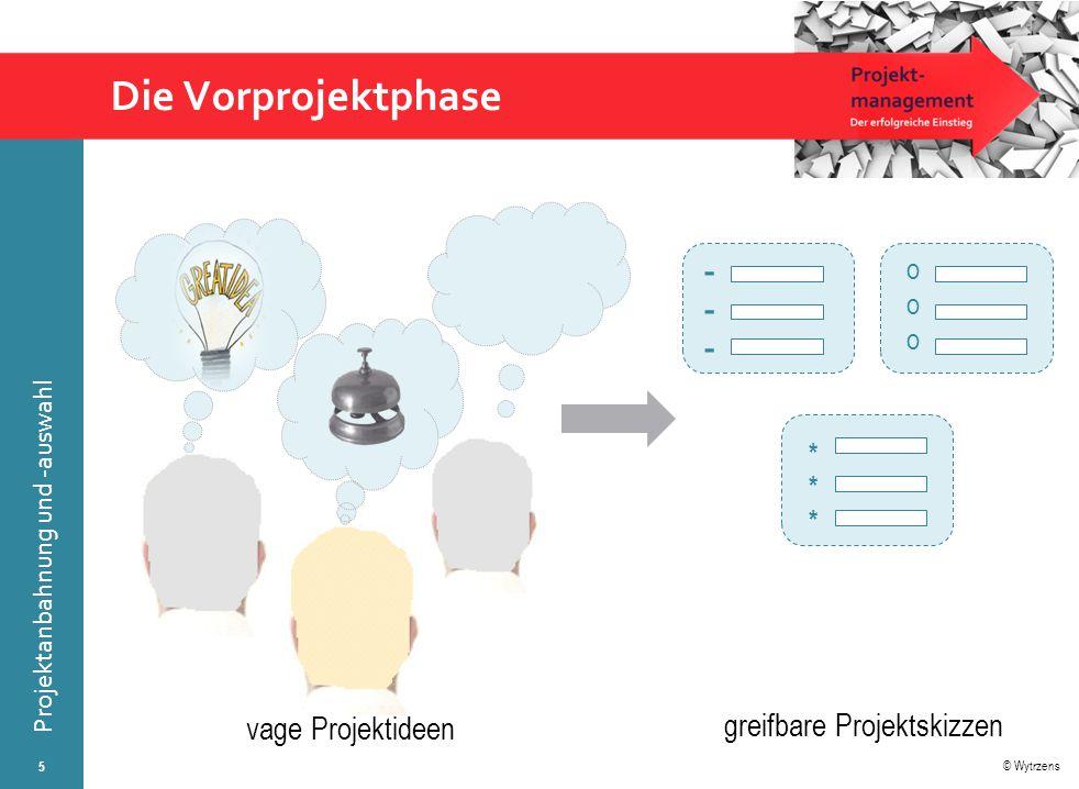 © Wytrzens Projektanbahnung und -auswahl Entscheidungsschritte bei der Projektauswahl 6