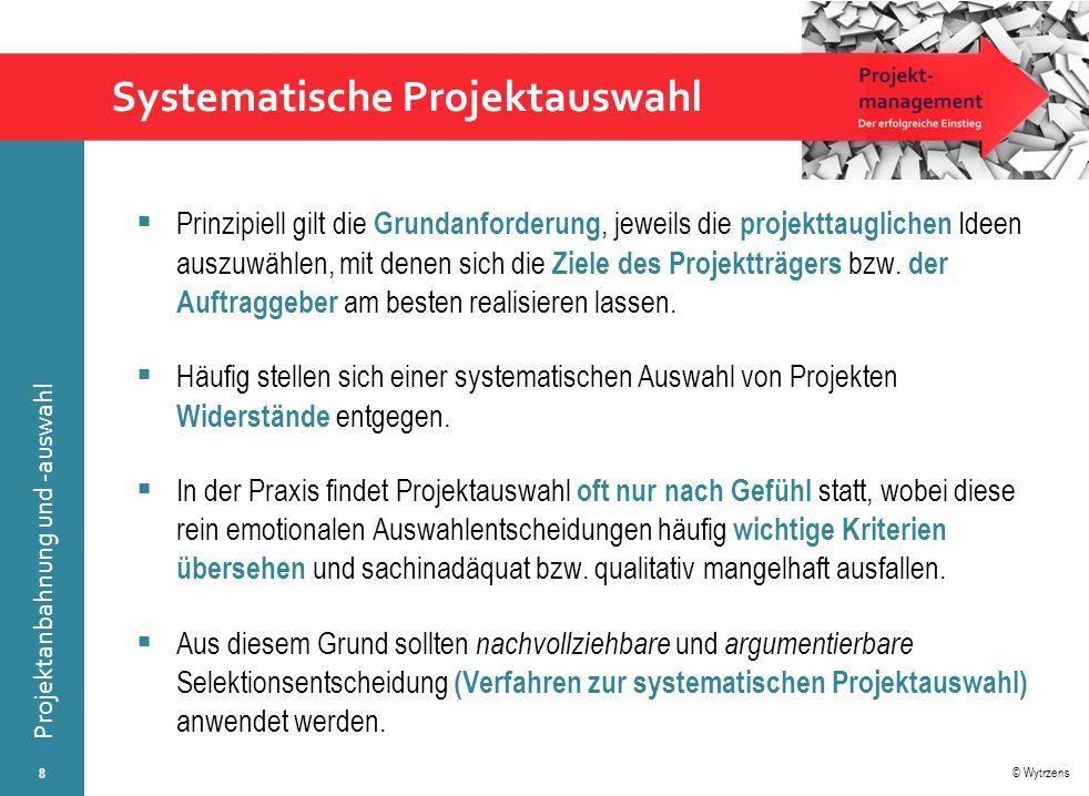 © Wytrzens Projektanbahnung und -auswahl SWOT-Matrix der Strategietypen 19